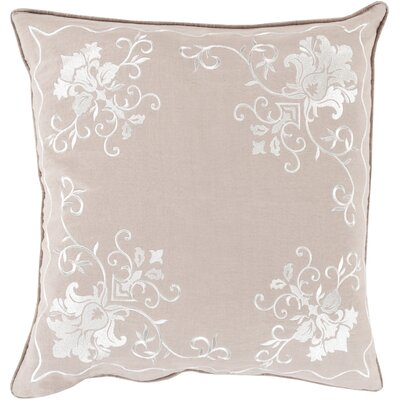Throw Pillow Color: Ivory/Lavender, Size: 22 H x 22 W x 4 D, Filler: Down