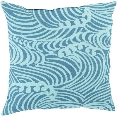 Throw Pillow Color: Mint, Size: 20 H x 20 W x 5 D, Filler: Down