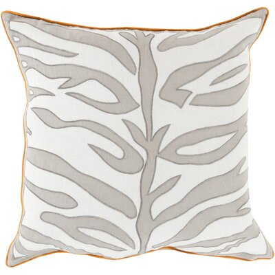 Eugenia Zebra Throw Pillow Size: 22 H x 22 W x 4 D, Color: Gray, Filler: Down