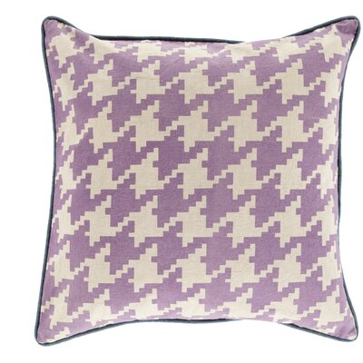 Cotton Throw Pillow Size: 20 H x 20 W x 5 D, Color: Beige, Filler: Down
