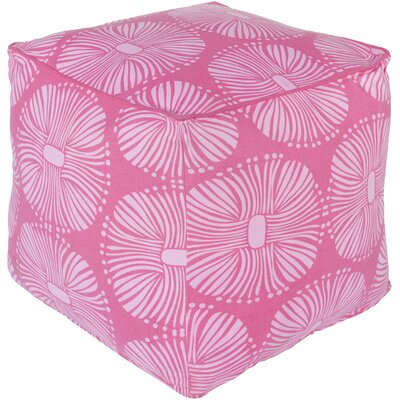 France Pouf Upholstery: Hot Pink/Ivory