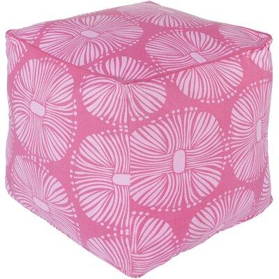 France Pouf Ottoman Upholstery: Hot Pink/Ivory
