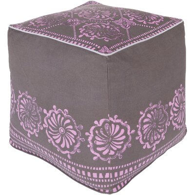Wright Pouf Upholstery: Charcoal/Orchid