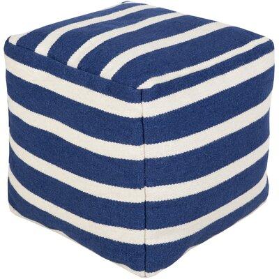 Mccormick Wool Pouf Ottoman Upholstery: Atlantic Blue