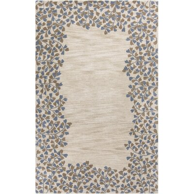 Athena Gray/Beige Area Rug Rug Size: 6' x 9'
