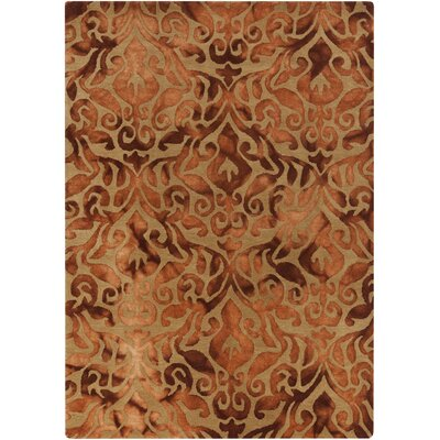 Nadene Copper Damask Rug Rug Size: Rectangle 2 x 3