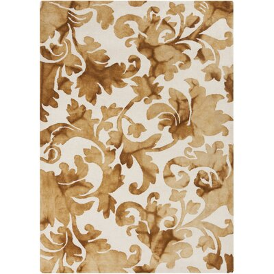 Sampson Ivory/Tan Medallion Rug Rug Size: Rectangle 9 x 13