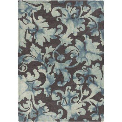 Belladonna Charcoal Damask Rug Rug Size: 33 x 53