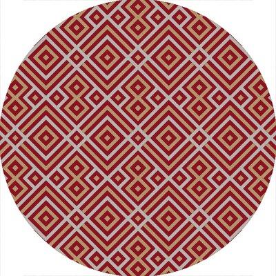 Sudbury Handmade Red Area Rug Rug Size: Round 6