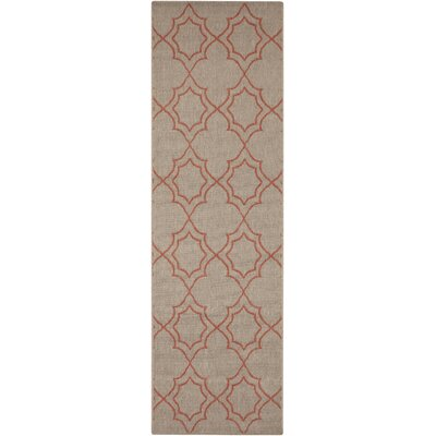Amato Beige/Red Indoor/Outdoor Area Rug Rug Size: Runner 23 x 119