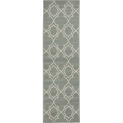 Amato Green Indoor/Outdoor Area Rug Rug Size: Runner 23 x 79