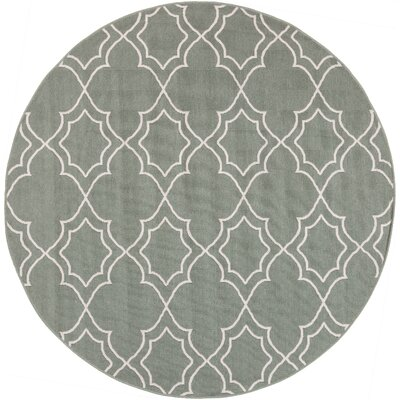 Amato Green Indoor/Outdoor Area Rug Rug Size: Round 73