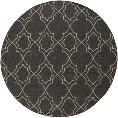 Amato Taupe Indoor/Outdoor Area Rug Rug Size: Round 73