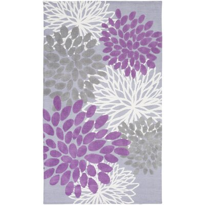 Odele Lavender/Gray Area Rug Rug Size: Rectangle 2 x 3