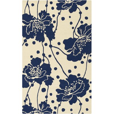 Bunn Navy/Ivory Indoor/Outdoor Area Rug Rug Size: 9 x 12