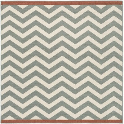 Breana Ivory/Moss Indoor/Outdoor Area Rug Rug Size: Square 73