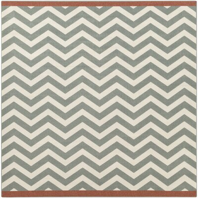 Breana Ivory/Moss Indoor/Outdoor Area Rug Rug Size: Square 89