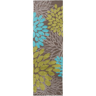 Odele Chocolate Area Rug Rug Size: Runner 26 x 8