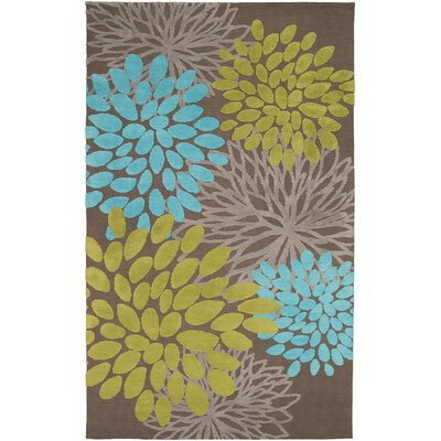 Odele Chocolate Area Rug Rug Size: 33 x 53