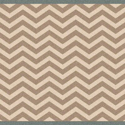 Breana Ivory/Taupe Indoor/Outdoor Area Rug Rug Size: Square 73