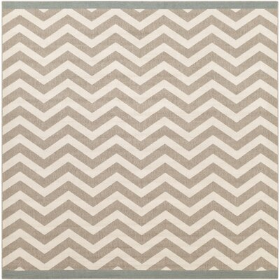 Breana Ivory/Taupe Indoor/Outdoor Area Rug Rug Size: Square 89