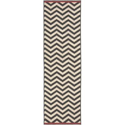 Breana Beige/Black Area Rug Rug Size: Runner 23 x 79
