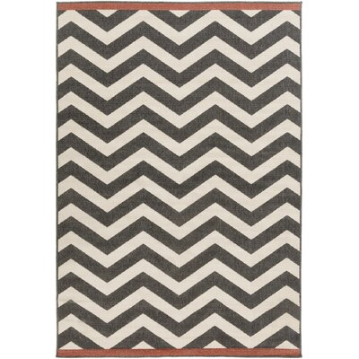 Breana Beige/Black Area Rug Rug Size: Rectangle 89 x 129