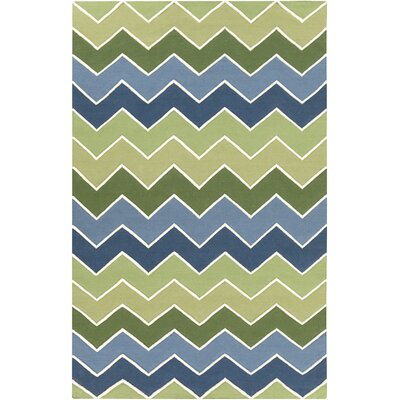 Brent Green Area Rug Rug Size: Rectangle 5 x 8