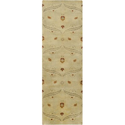 Hinson Sea Foam Area Rug Rug Size: Runner 26 x 8