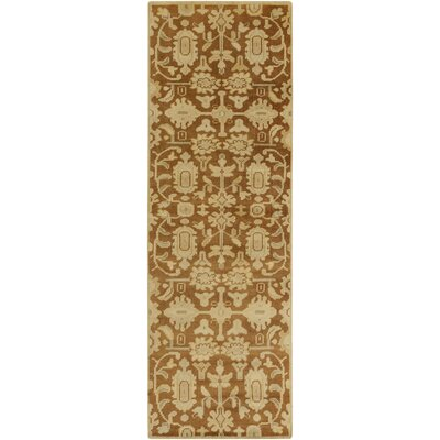 Moffet Gold Area Rug Rug Size: Runner 26 x 8