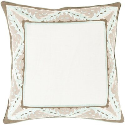 Throw Pillow Size: 18 H x 18 W x 4 D, Color: Mint, Filler: Down