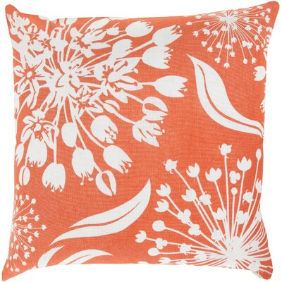 Zak Linen Throw Pillow Size: 20 x 20, Color: Poppy/Ivory, Fill Material: Down