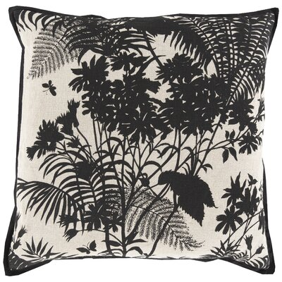 Asher Throw Pillow Color: Charcoal, Filler: Down
