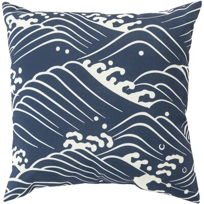 Throw Pillow Size: 20 H x 20 W x 5 D, Color: Navy, Filler: Polyester