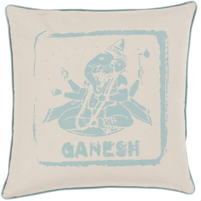 Cotton Throw Pillow Size: 22 H x 22 W x 4 D, Color: Moss/Beige, Filler: Polyester