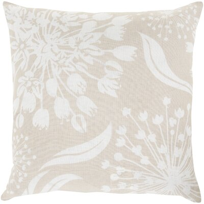 Zak Linen Throw Pillow Size: 20 x 20, Color: Olive/Light Gray, Fill Material: Down