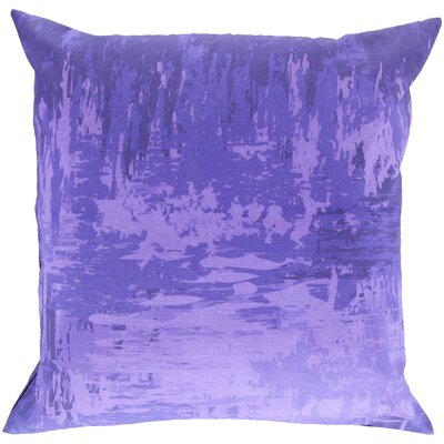 Congdon Cotton Throw Pillow Size: 22 H x 22 W x 4 D, Color: Lavender, Filler: Polyester
