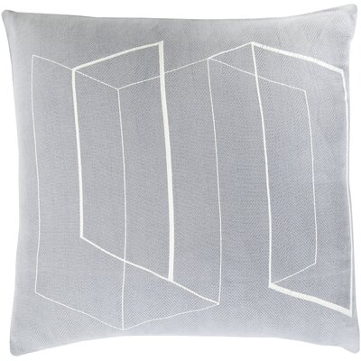 Ismay Throw Pillow Size: 22 H x 22 W x 4 D, Color: Slate, Filler: Down