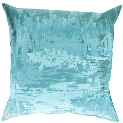 Congdon Cotton Throw Pillow Size: 22 H x 22 W x 4 D, Color: Teal, Filler: Down