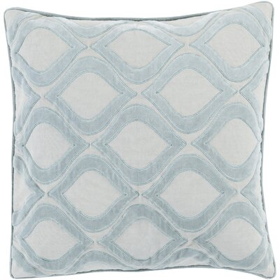 Bourbana Throw Pillow Size: 18 H x 18 W x 4 D, Color: Light Gray/Slate, Filler: Down