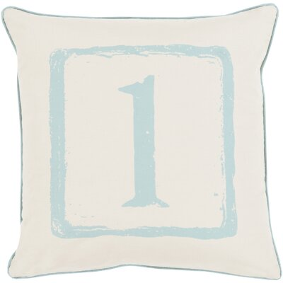 Clark Cotton Throw Pillow Size: 22 H x 22 W x 4 D, Color: Moss/Beige, Number: 1