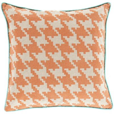 Allendale Cotton Throw Pillow Size: 20 H x 20 W x 5 D, Color: Burnt Orange, Filler: Down