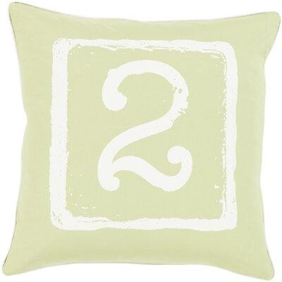Down Cotton Throw Pillow Size: 22 H x 22 W x 4 D, Number: 2, Color: Ivory/Lime