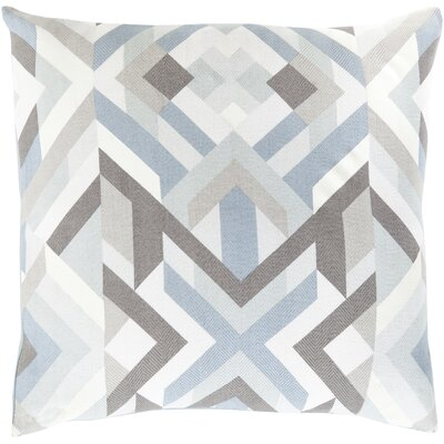 Neptune Geometric Cotton Throw Pillow Size: 20 H x 20 W x 5 D, Color: Slate, Filler: Down