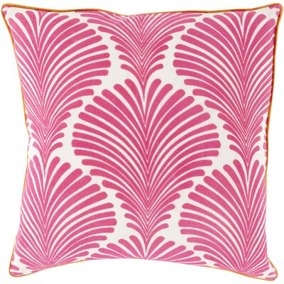 Jennifer Cotton Throw Pillow Size: 18 H x 18 W x 4 D, Color: Hot Pink, Filler: Down