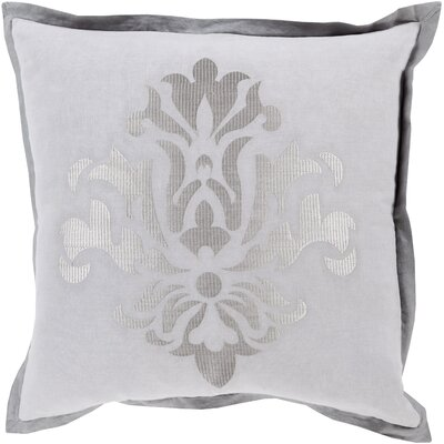 Boulters Throw Pillow Size: 22 H x 22 W x 4 D, Color: Light Gray, Filler: Down