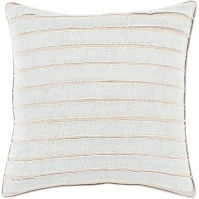 Ward Throw Pillow Size: 18 H x 18 W x 4 D, Color: Slate, Filler: Down