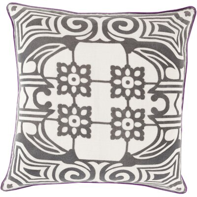 Ace Linen Throw Pillow Size: 22 H x 22 W x 4 D, Color: Charcoal, Filler: Down