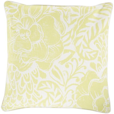 Ryele Cotton Throw Pillow Size: 22 H x 22 W x 4 D, Color: Butter, Fill Material: Down