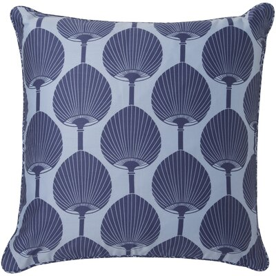 Pablo Contemporary Square Cotton Throw Pillow Color: Cobalt / Sky Blue